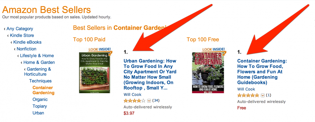 Bestselling Gardening Books on Kindle