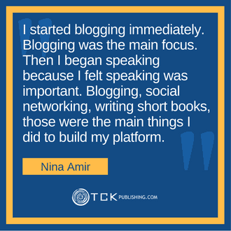 Blog Your Book Nina Amir quote image
