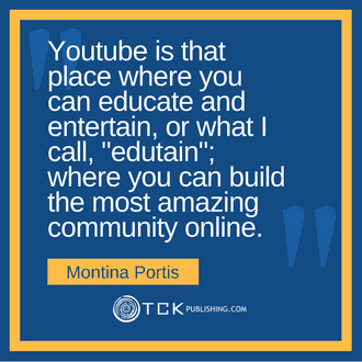 Market Your Books with Online Video and YouTube Montina Portis quote image