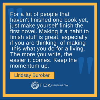 Earn a Full-Time Income Writing Books Lindsay Buroker quote image