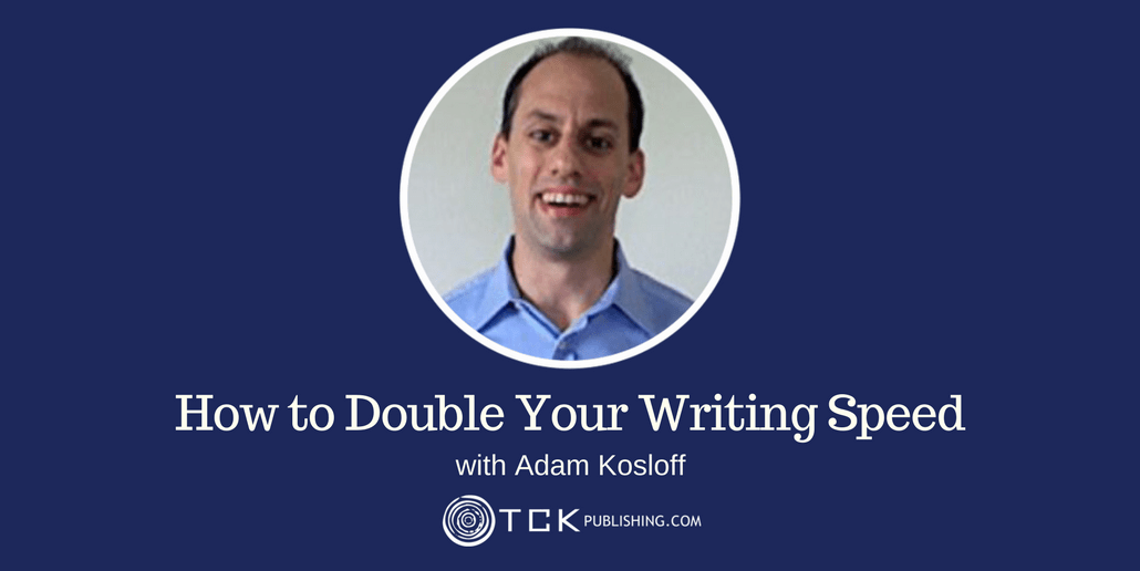 Double your writing speed Adam Kosloff header