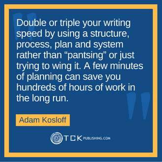 Double your writing speed Adam Kosloff quote image