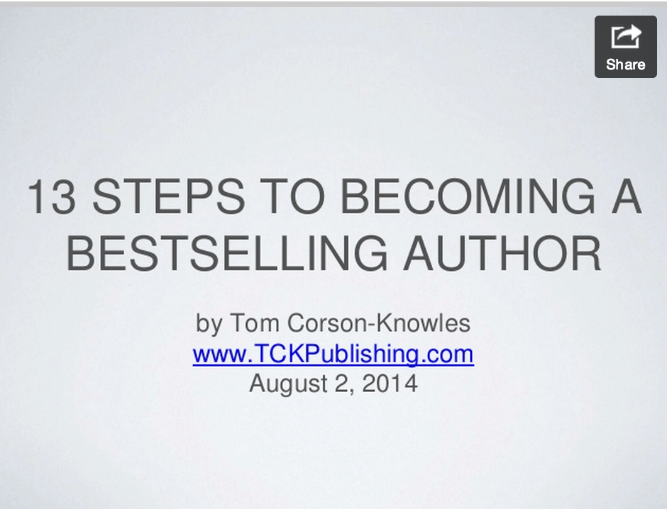 13 Steps to Becoming a Bestselling Author Slides