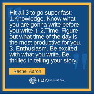 Write Faster, Better Rachel Aaron quote image