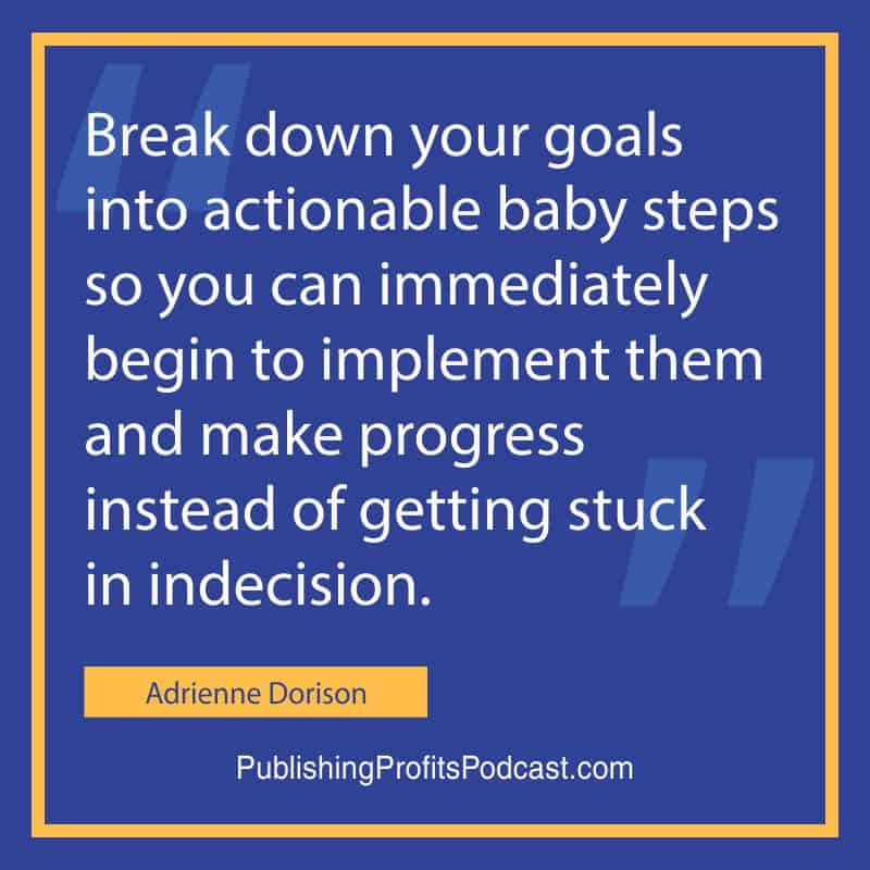 Creating Habits for Success Adrienne Dorison quote image