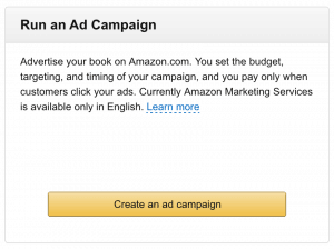 Run an Ad Campaign Amazon Marketing Services for Kindle eBooks