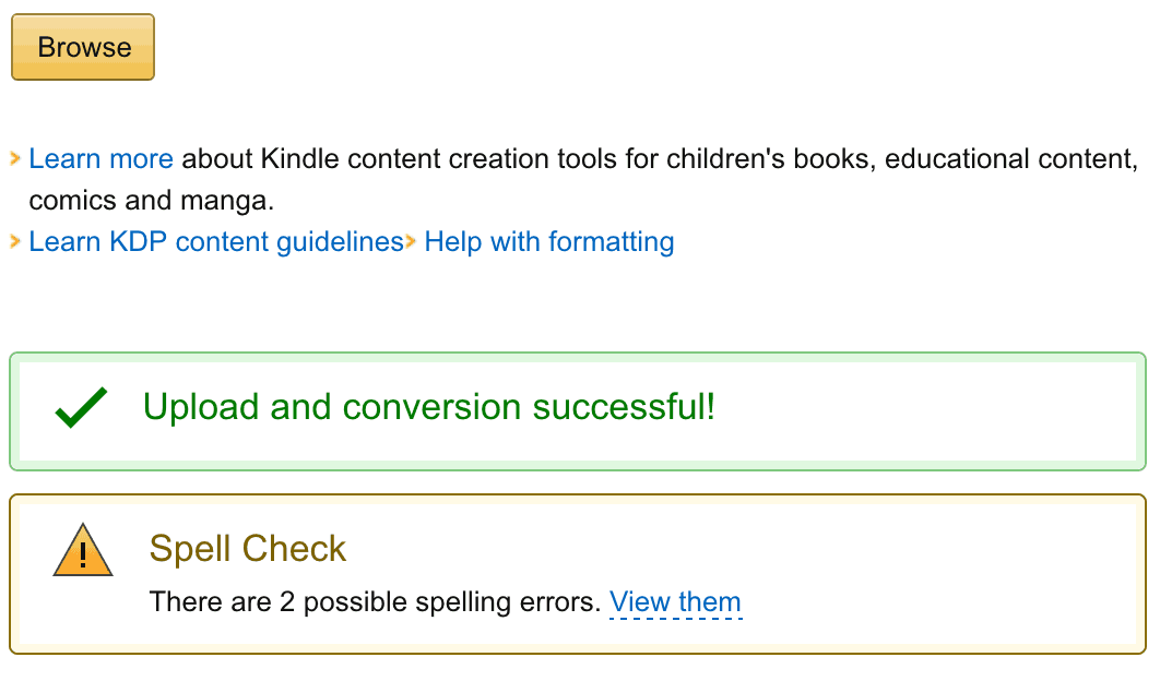 Amazon KDP Spellcheck