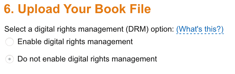 Opting out of Digital Rights Management (DRM) for eBooks