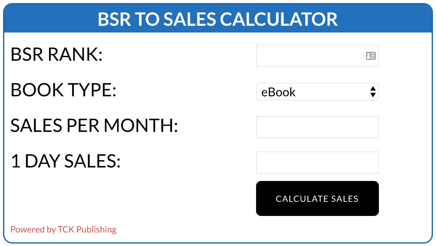 Amazon Book Sales Calculator | TCK Publishing
