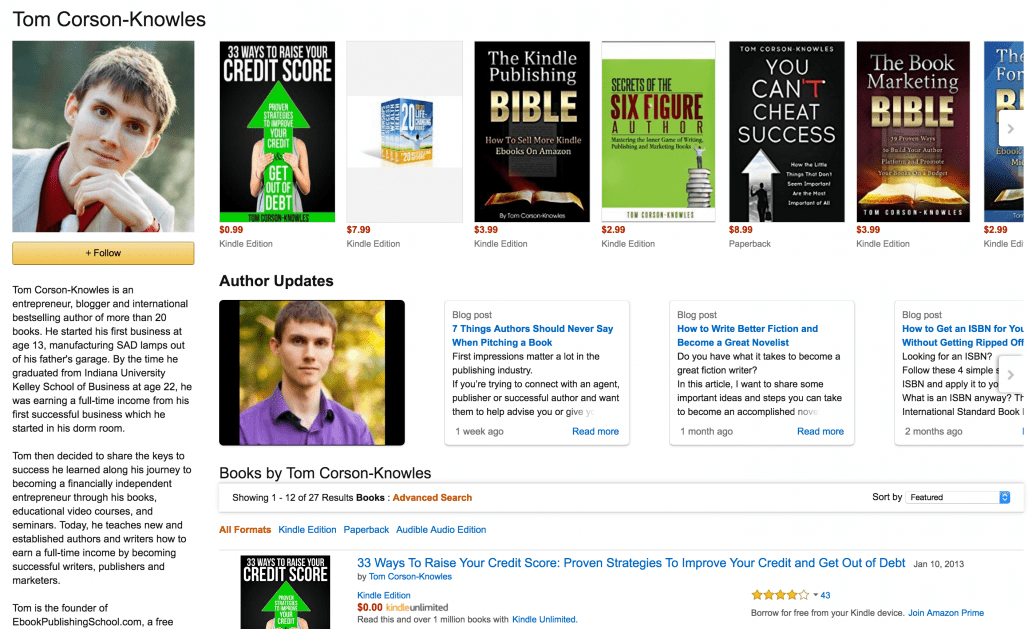 How to Setup Author Central Profile on Amazon