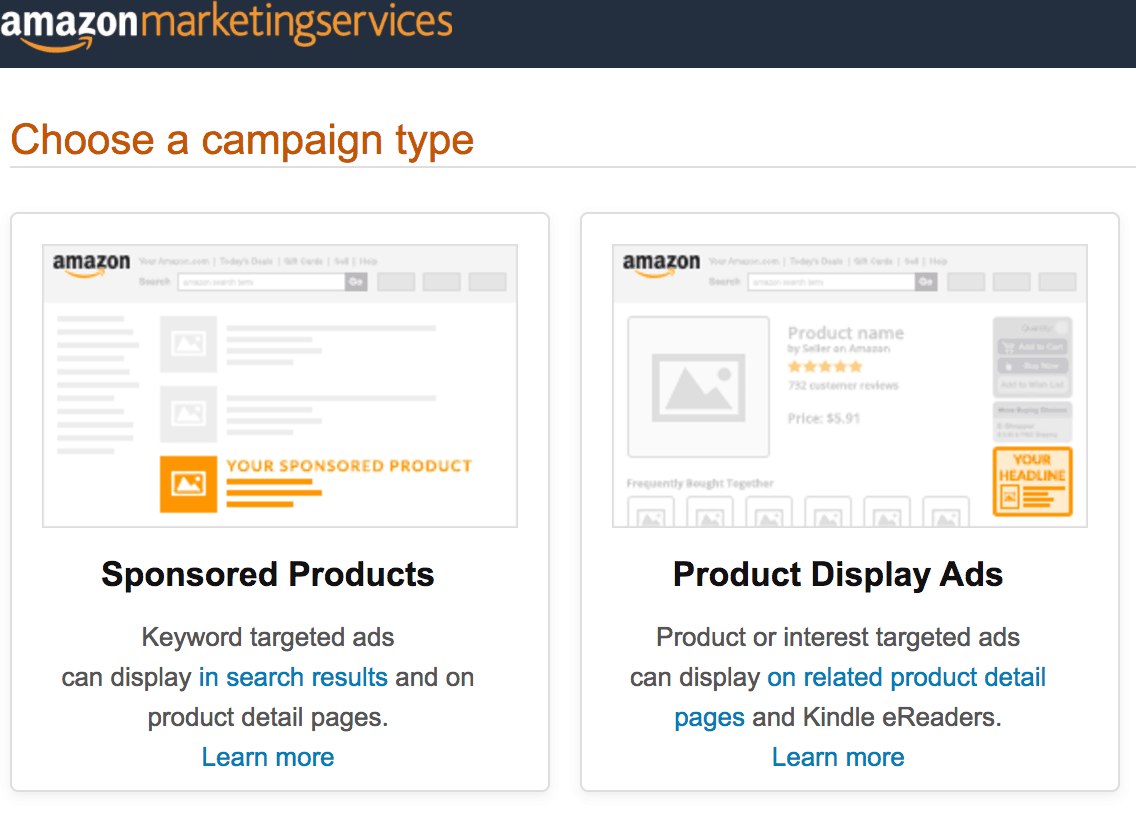 Amazon Sponsored products ads vs product display ads