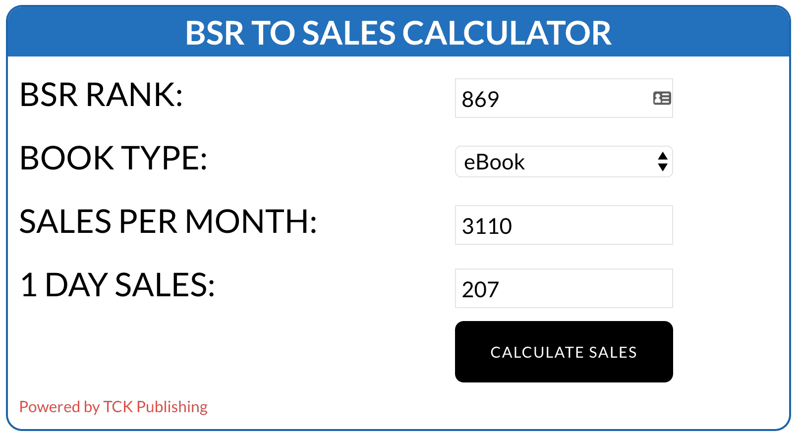 Amazon book sales calculator tool image