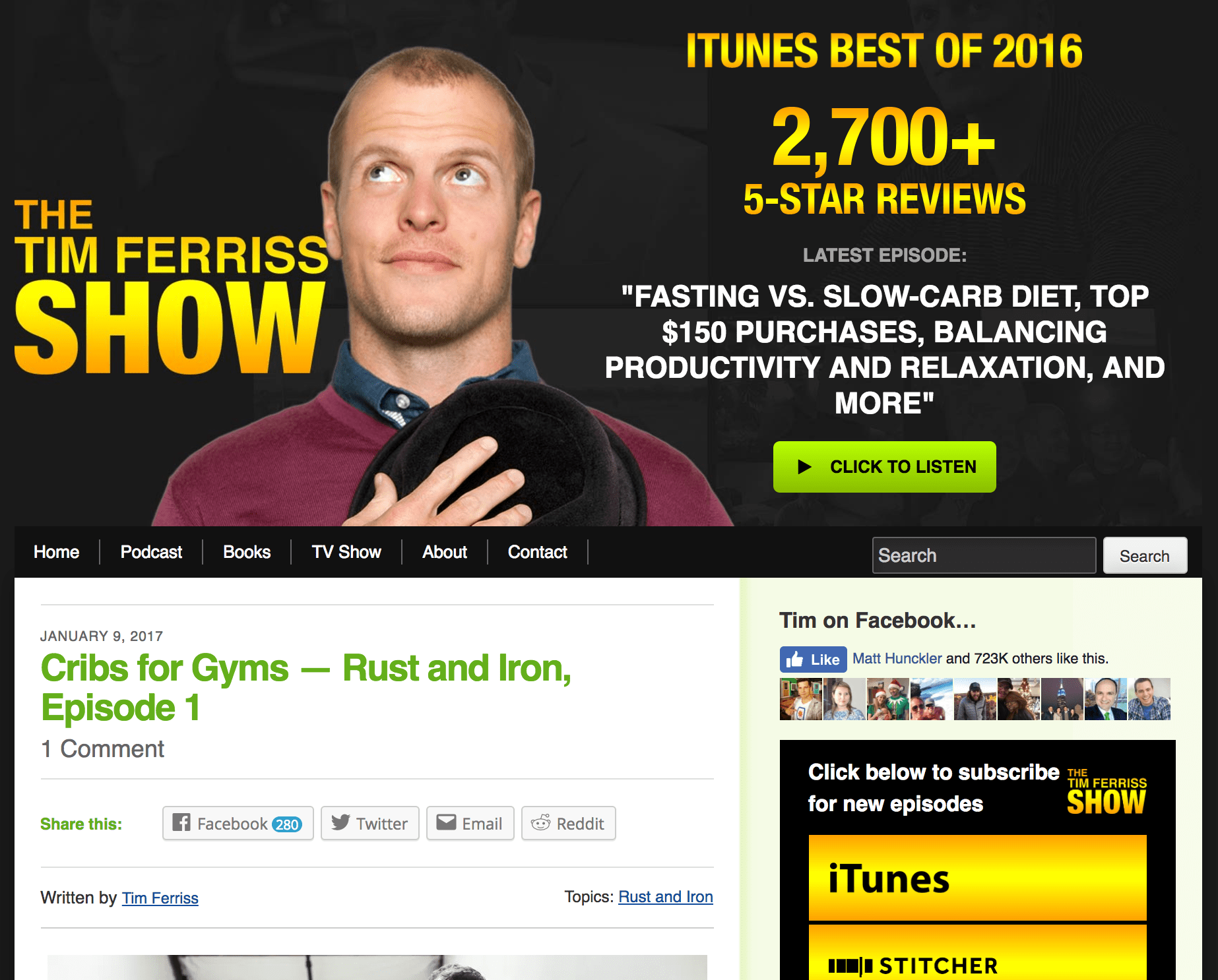 Author Website Example for Tim Ferriss image
