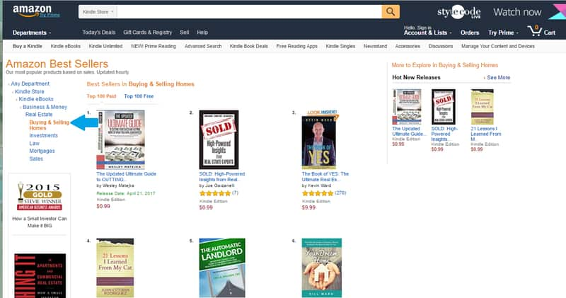 Income Producing Activities Amazon Bestseller Buying and Selling Homes