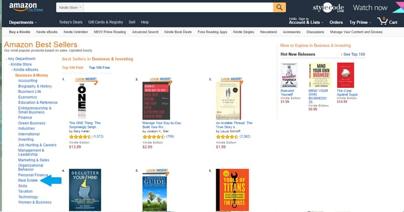 Amazon Bestseller List Real Estate
