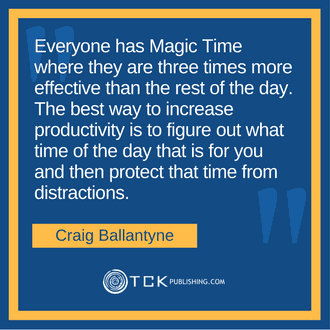 Time Management for Writers and Sales Funnels Craig Ballantyne quote image