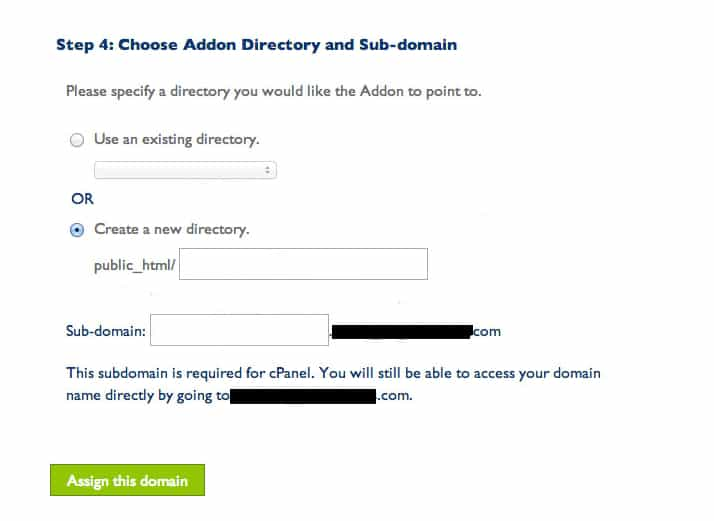 Finish Assigning Domain in Bluehost