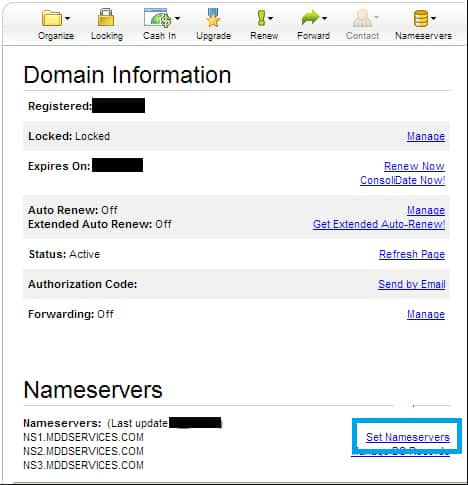 GoDaddy Set Nameservers Link