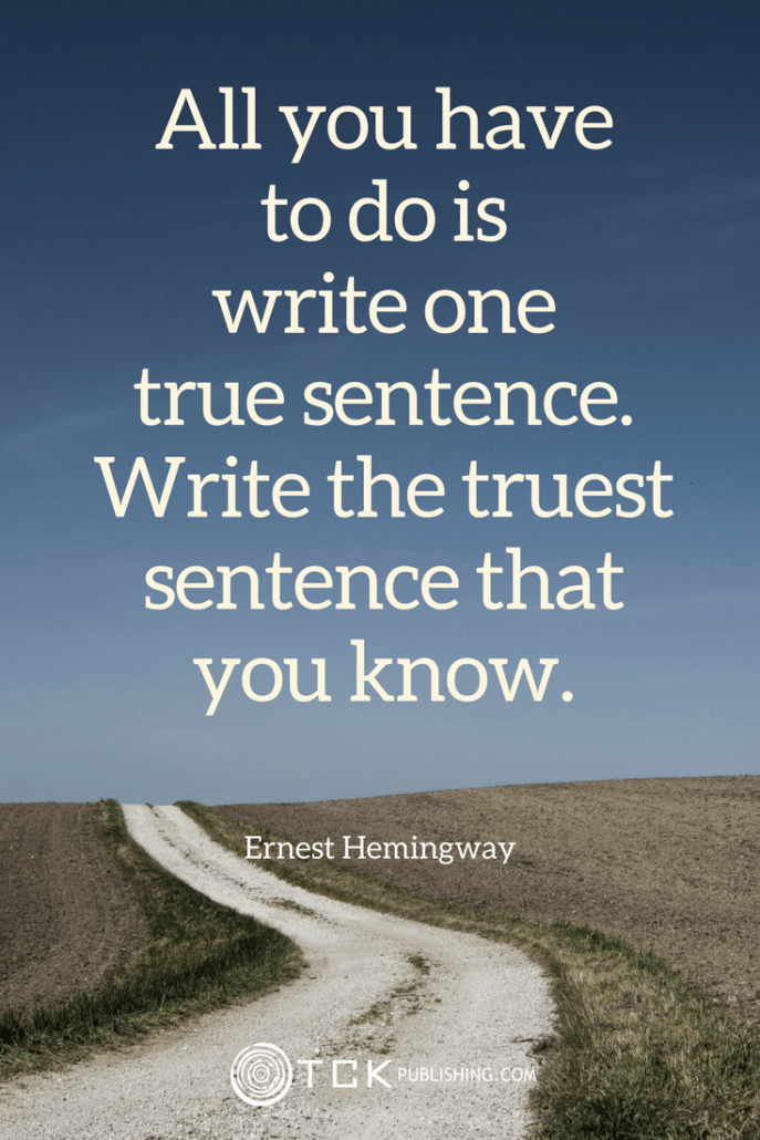 write one true sentence ernest hemingway