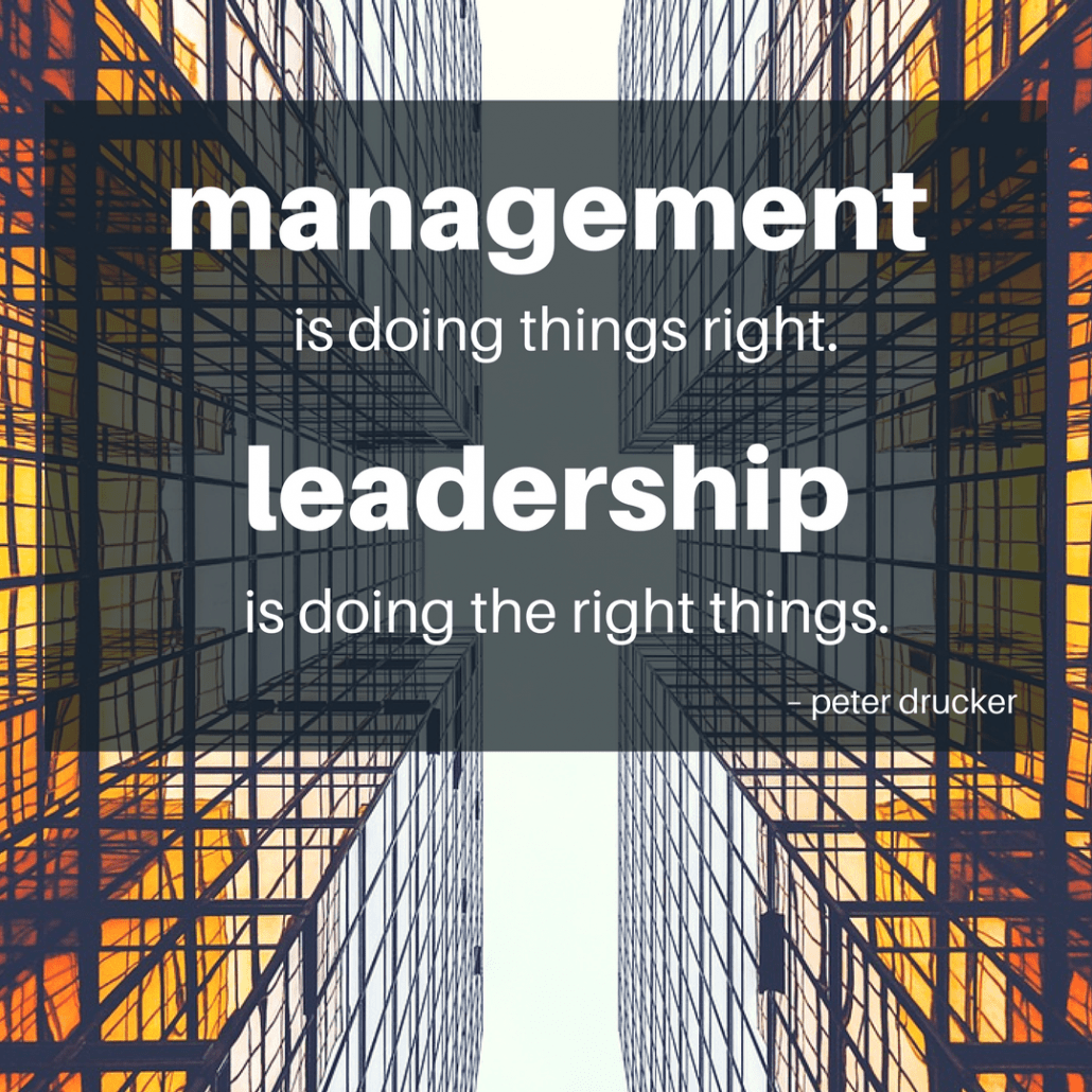 Peter Drucker doing the right thing