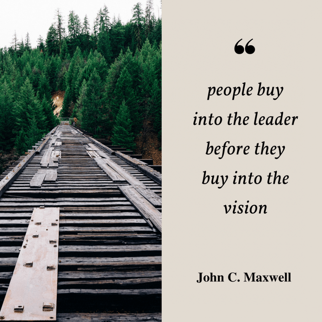 John C. Maxwell people buy on the leader