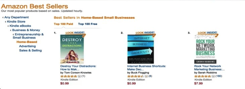 Destroy Your Distractions bestseller in home-based small business