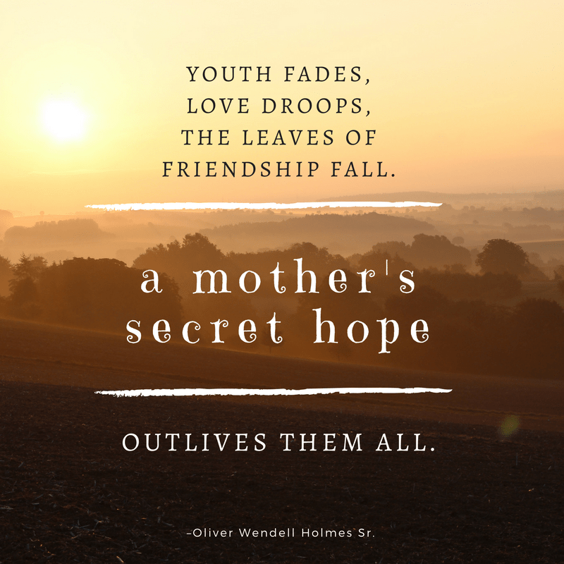 Oliver Wendell Holmes Sr. quote on mother