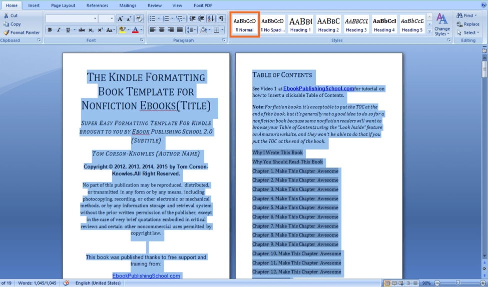 Easily Self Publish on Amazon Kindle: Do It Yourself: Format a Simple MS Word Document