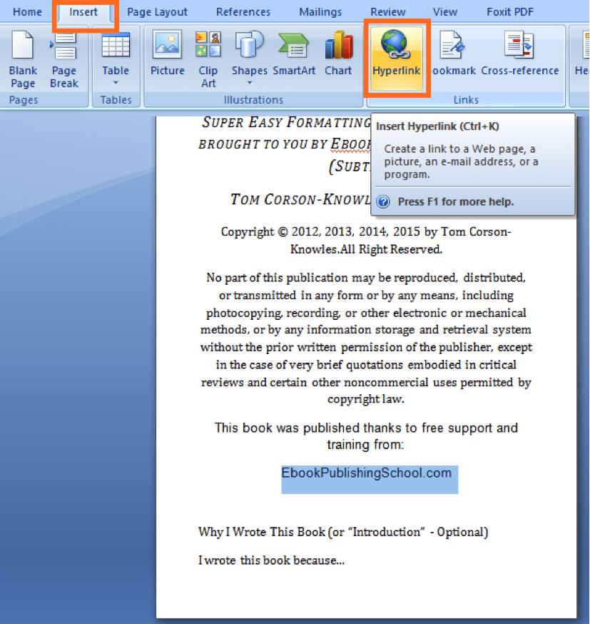How to Format Your Book for Amazon Kindle Using Microsoft Word in