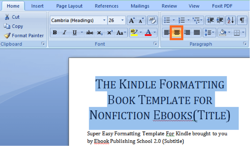 How to format your book for amazon kindle using microsoft word in format book title on word fandeluxe Images