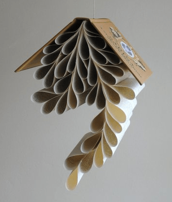 Lisa Occhipinti cascading book page sculpture