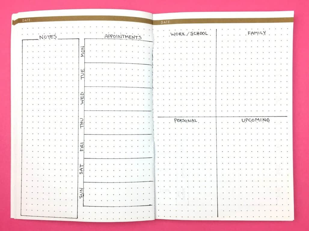 Megan at Page Flutter bullet journal layout