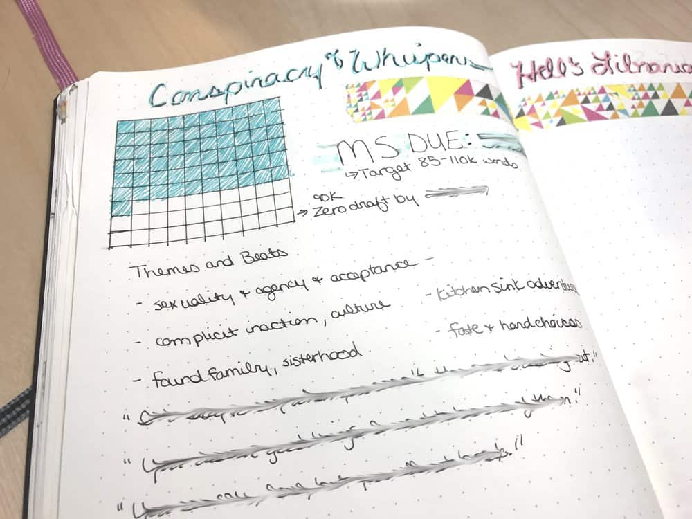 Author Amanda Hackwith using bullet journal