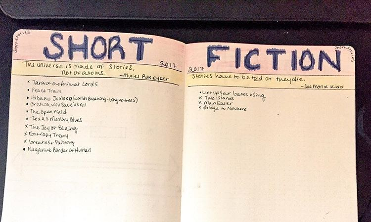Author Holly Walrath's fiction tracker