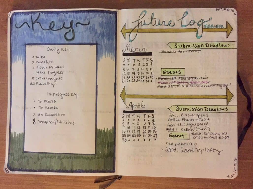 Author Holly Walrath manages writing using bullet journal