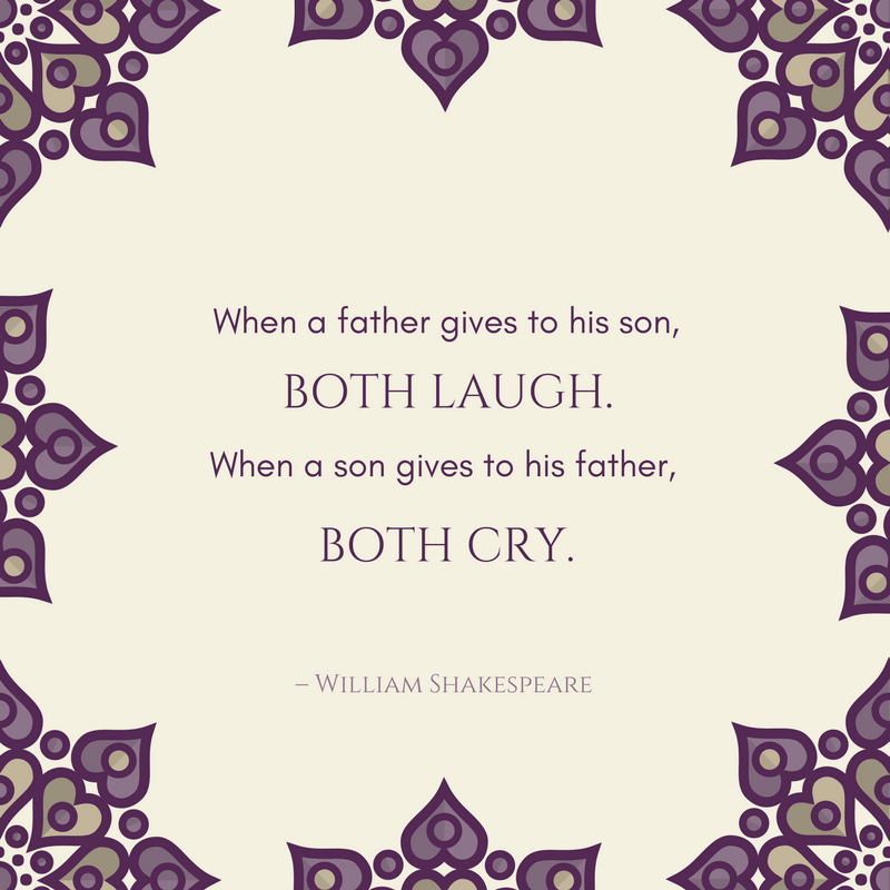 William Shakespeare father and son