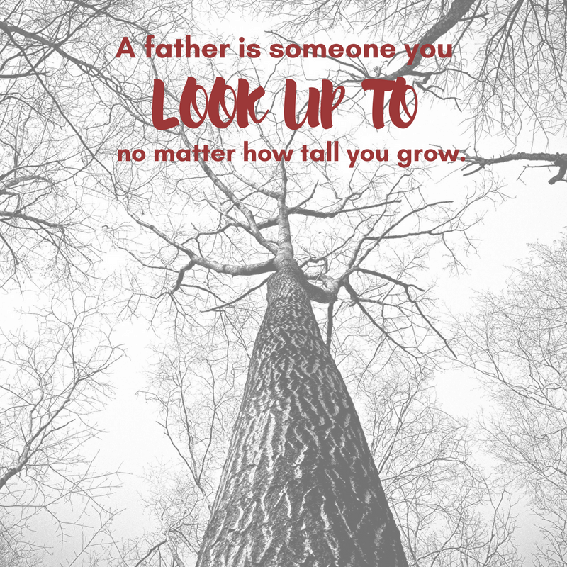 A father is someone you look up to, no matter how tall you grow.