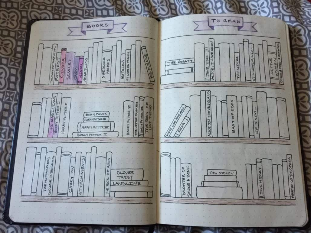 Read before You Write Christine bullet journal layout