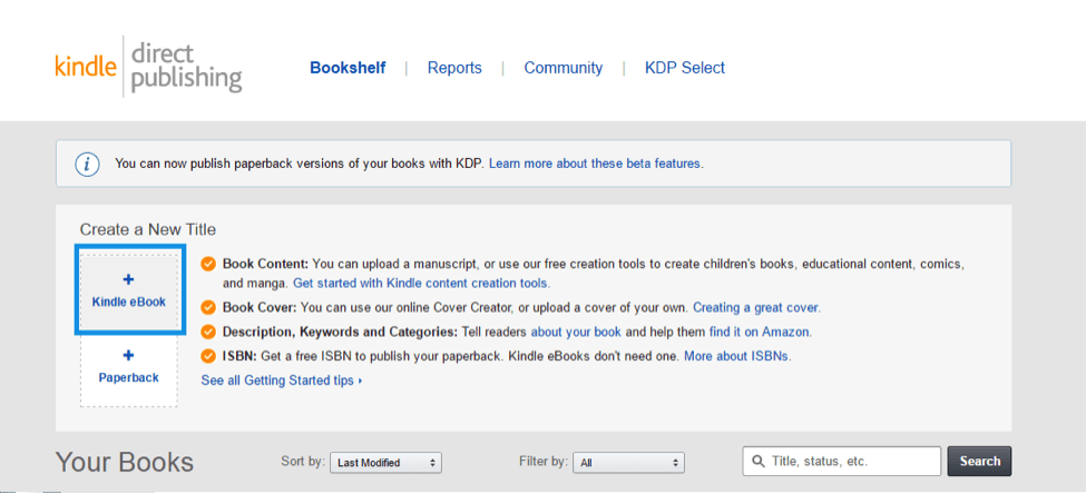 how to upload book to kdp