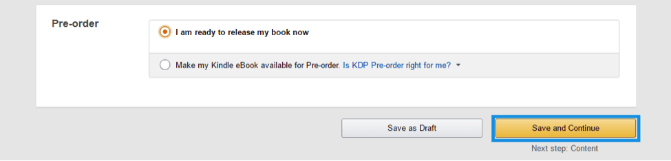 pre order book on amazon or launch a book on amazon