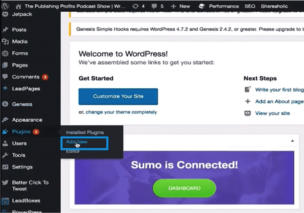how to install WordPress plugins from dashboard