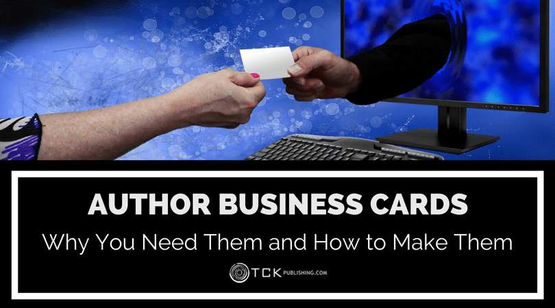 how to make author business cards and why you need them