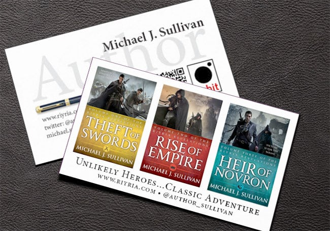 best author business cards