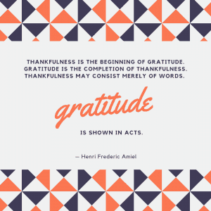 Henri Frederic Amiel gratitude is shown in acts