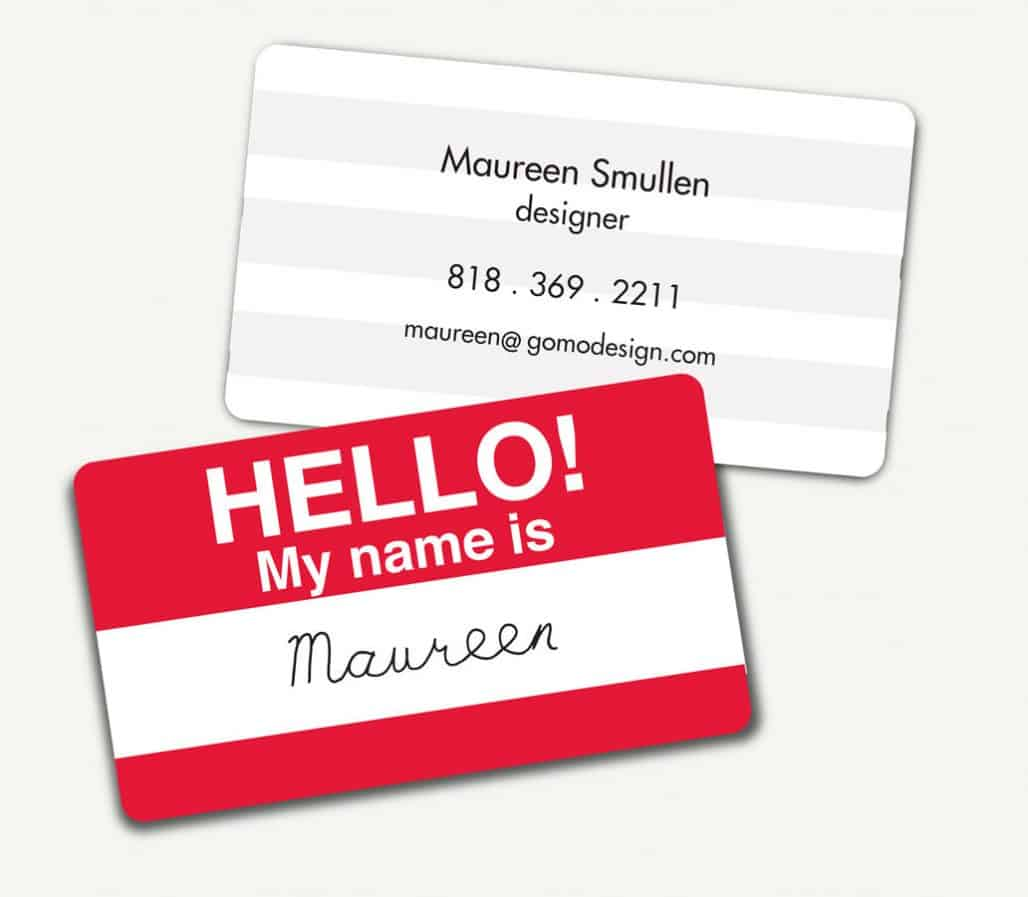 business card name tag by ZindiePop