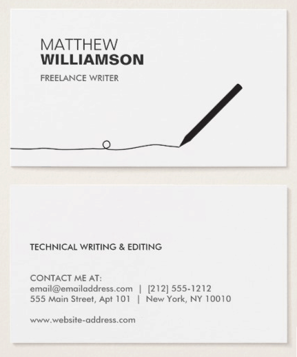 Creative business card ideas for writers business cards templates by zazzle colourmoves