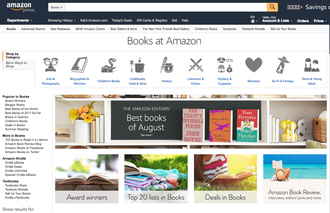 choosing the right amazon categories