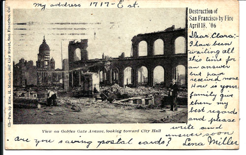 visual writing prompts - San Francisco earthquake