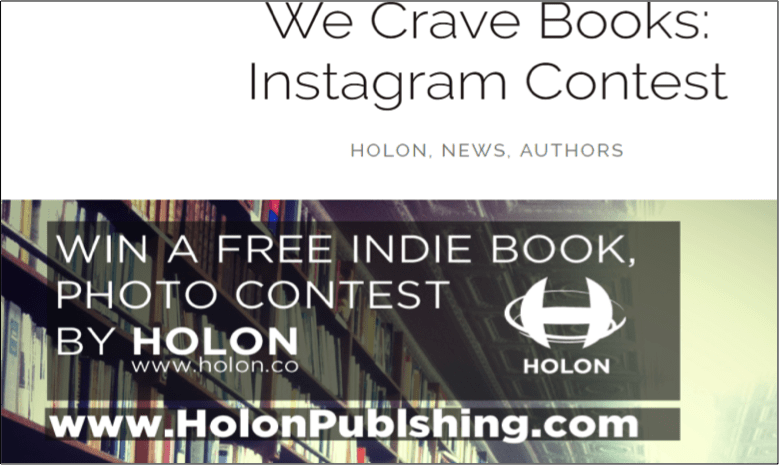 Hold Instagram contests to build an author community
