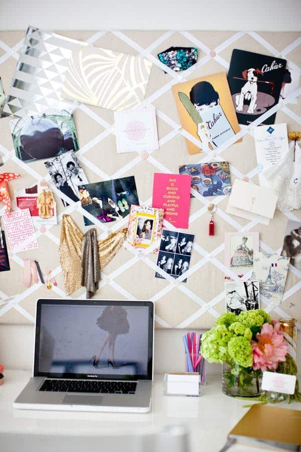ribbon lattice picture board